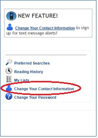 Change Your Contact Information