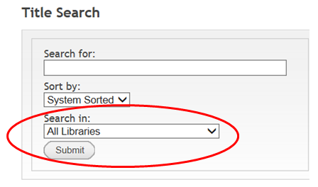Search In All Libraries