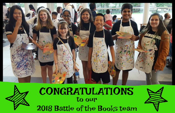 Battle of the Books 2018 Team