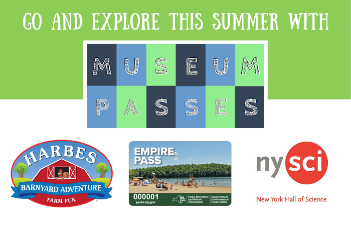 Go and explore this summer with Museum Passes. Harbes Barnyard Adventure Farm Fun, Empire Pass, New York Hall of Science.